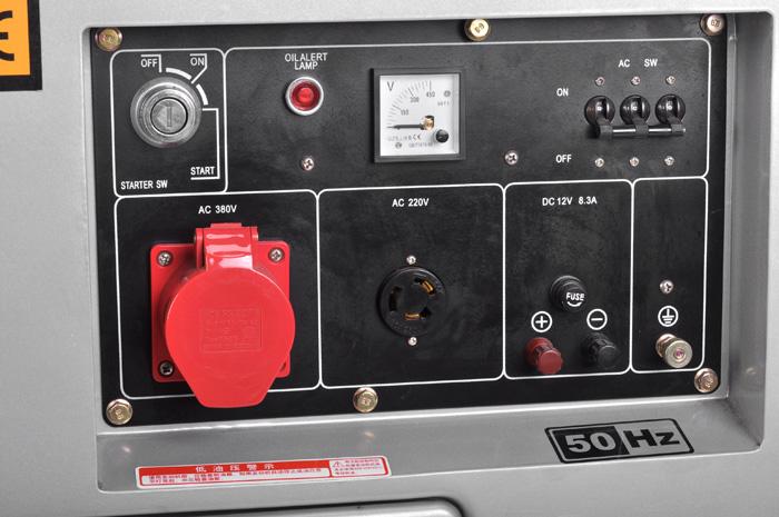 柴油发电机hs6500t3 5kw-8kw小型柴油发电机 汉萨电子
