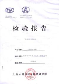 柴油发电机检验报告