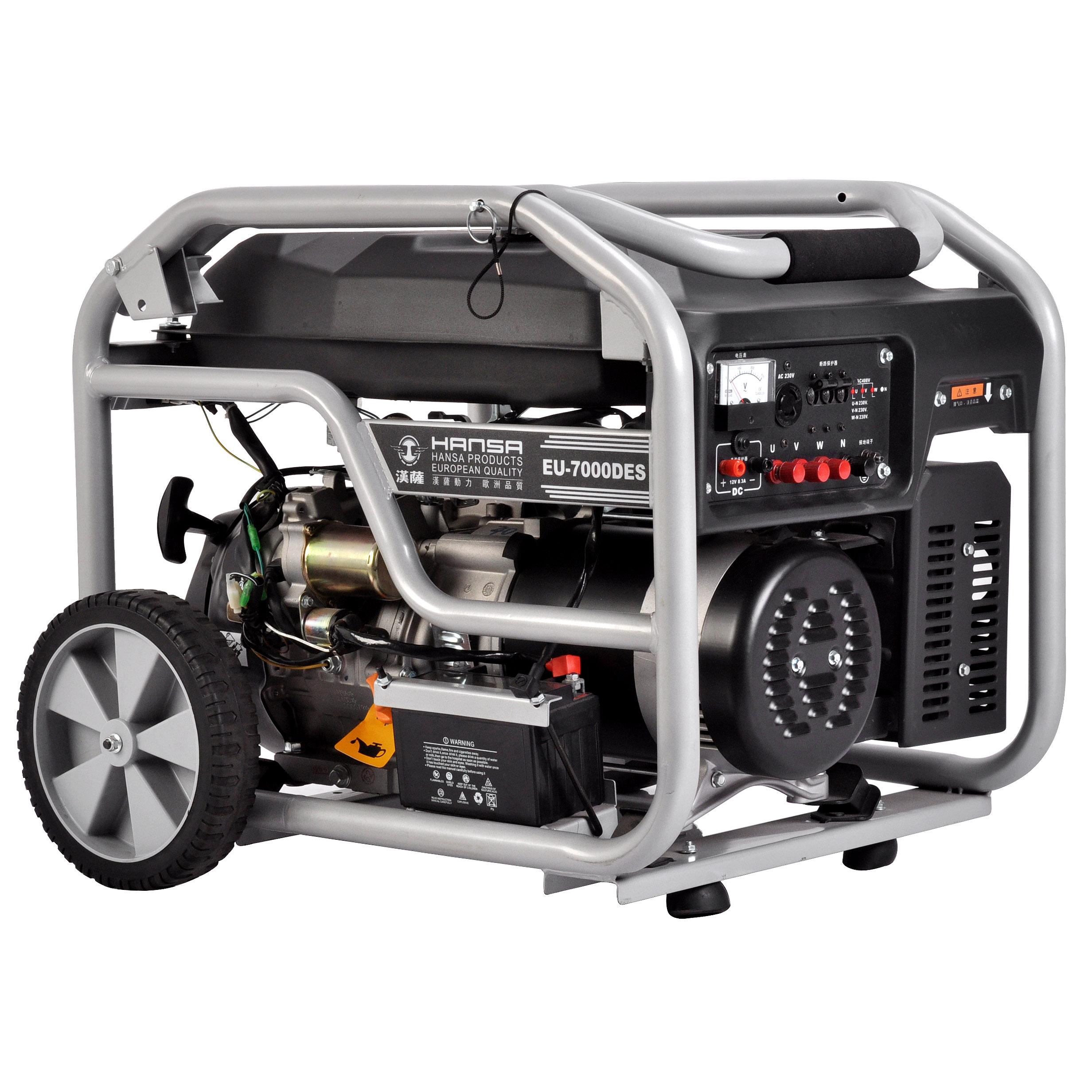 6.6KW三相汽油发电机——EU-7000DES