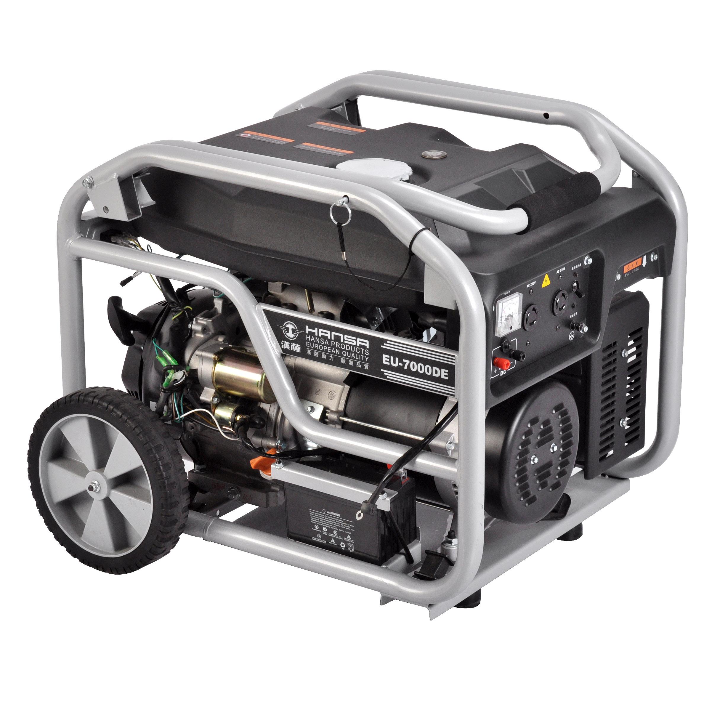 汉萨6kw汽油发电机——EU-7000DE