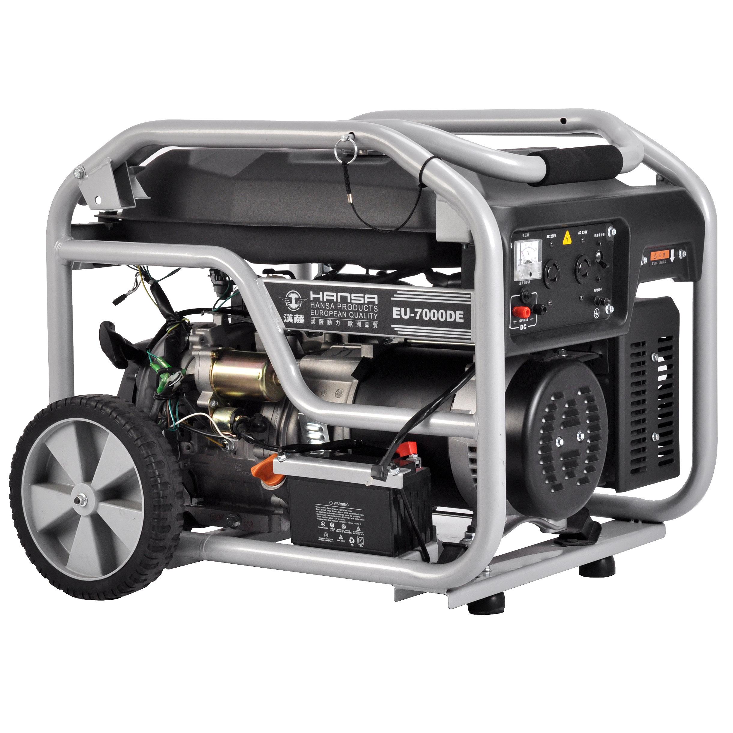 6KW单相电启动汽油发电机——EU-7000DE