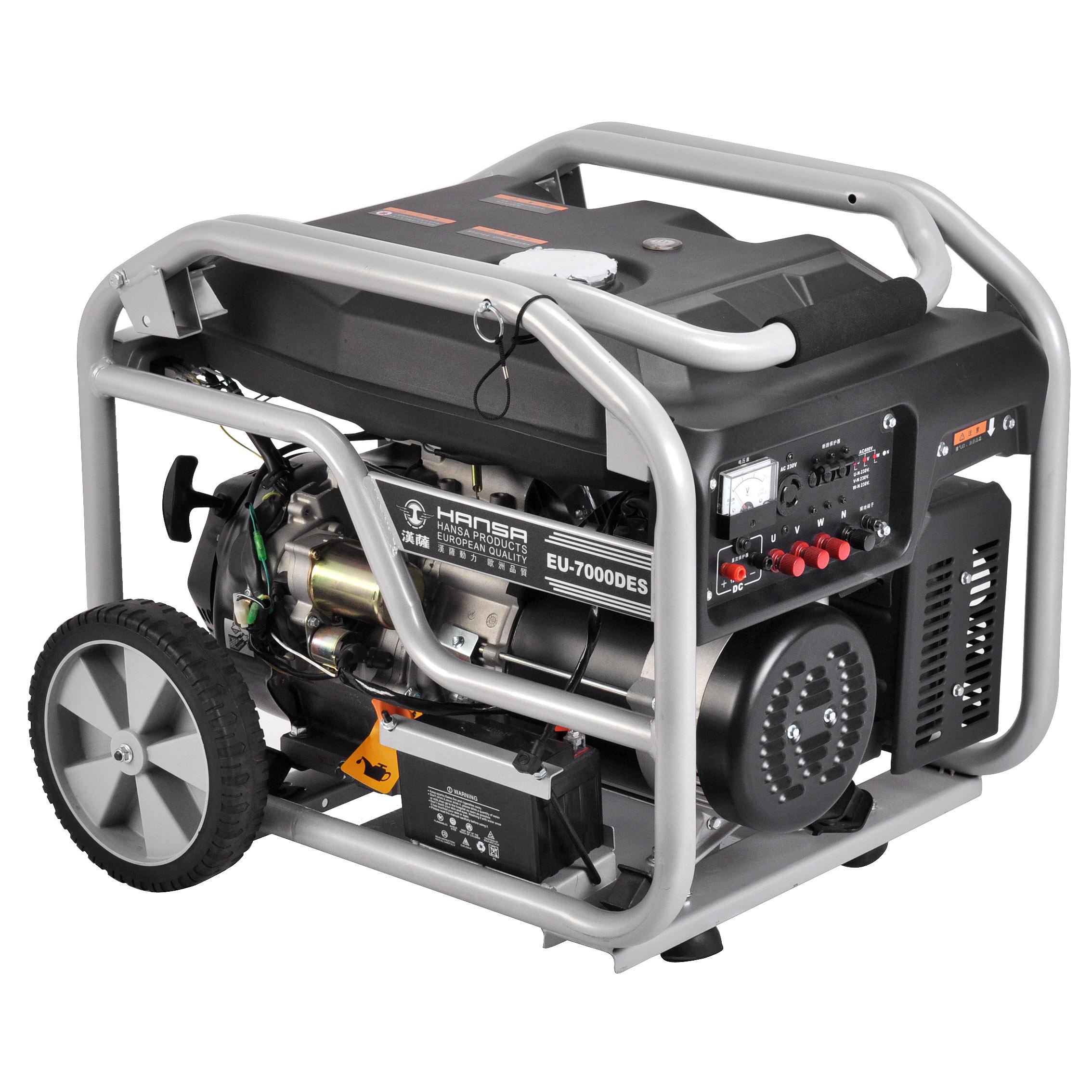 6KW三相单杠四冲程汽油发电机——EU-7000DES